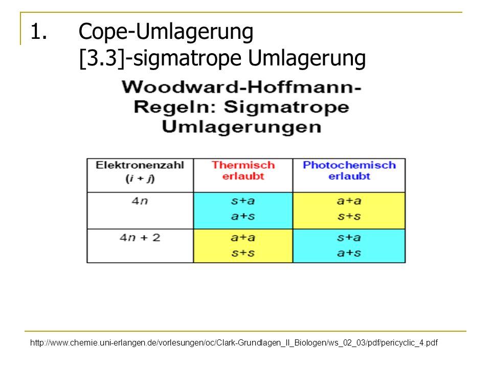 1. Cope-Umlagerung [3.3]-sigmatrope Umlagerung